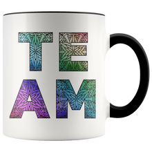 Load image into Gallery viewer, Team Watercolors Diversity Accent Coffee Cup BLack