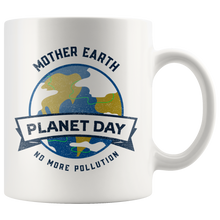 Load image into Gallery viewer, Mother Earth Planet Day Accent Ceramic Coffee Cup White