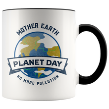 Load image into Gallery viewer, Mother Earth Planet Day Accent Ceramic Coffee Cup Black