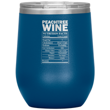 Load image into Gallery viewer, Peachtree Wine Facts Tumbler Blue