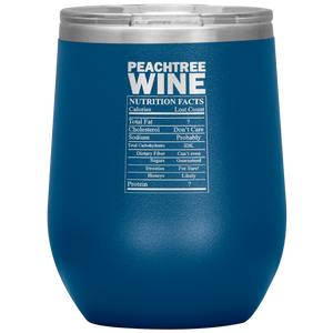 Peachtree Wine Facts Tumbler Blue