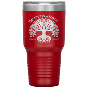 Atlanta City in a Forest Tumbler Red