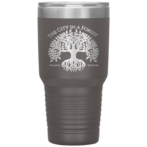 Atlanta City in a Forest Tumbler Pewter