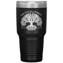 Load image into Gallery viewer, Atlanta City in a Forest Tumbler Black