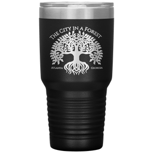 Atlanta City in a Forest Tumbler Black