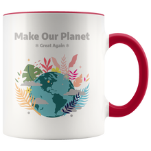 Load image into Gallery viewer, Make Our Planet Great Again Accent Coffee Cup Red