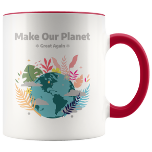 Make Our Planet Great Again Accent Coffee Cup Red