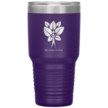 Load image into Gallery viewer, Be-You-Ti-Ful Tree Stainless Steel Tumbler Purple