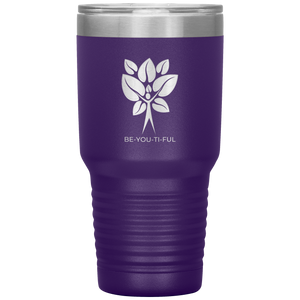 Be-You-Ti-Ful Tree Stainless Steel Tumbler Purple