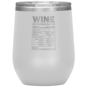 Wine Nutritional Facts Wine Tumbler White