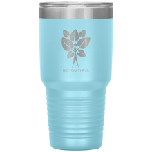 Load image into Gallery viewer, Be-You-Ti-Ful Tree Stainless Steel Tumbler Light Blue
