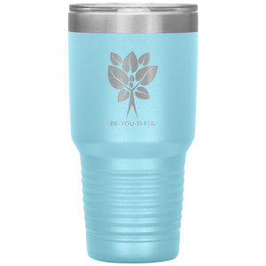 Be-You-Ti-Ful Tree Stainless Steel Tumbler Light Blue