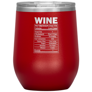 Wine Nutritional Facts Wine Tumbler Red