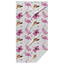 Load image into Gallery viewer, Flaming Beach Towel with Back Showing