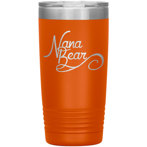 Nana Bear Stainless-Steel Tumbler Orange