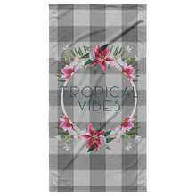 Load image into Gallery viewer, Tropical Vibes Beach Towel