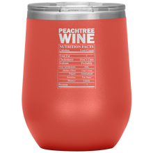 Load image into Gallery viewer, Peachtree Wine Facts Tumbler Coral