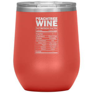 Peachtree Wine Facts Tumbler Coral