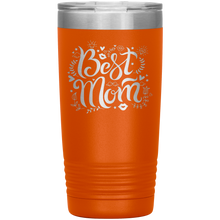 Load image into Gallery viewer, Best Mom Orange Engraved Stainless Steel Tumbler