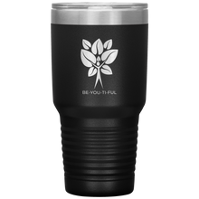 Load image into Gallery viewer, Be-You-Ti-Ful Tree Stainless Steel Tumbler Black