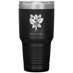 Be-You-Ti-Ful Tree Stainless Steel Tumbler Black
