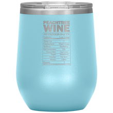 Load image into Gallery viewer, Peachtree Wine Facts Tumbler Light Blue