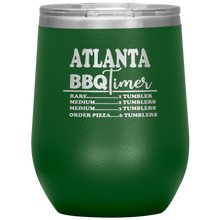 Load image into Gallery viewer, Atlanta BBQ Timer Wine Tumbler Green