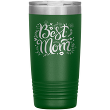Load image into Gallery viewer, Best Mom Green Engraved Stainless Steel Tumbler