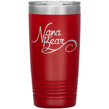 Load image into Gallery viewer, Nana Bear Stainless-Steel Tumbler Red