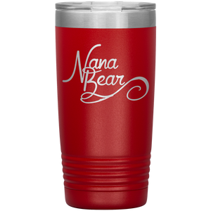 Nana Bear Stainless-Steel Tumbler Red