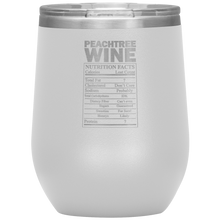 Load image into Gallery viewer, Peachtree Wine Facts Tumbler White