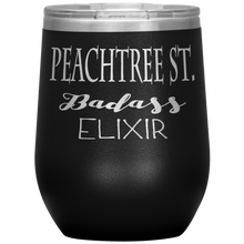 Load image into Gallery viewer, Peachtree Street Badass Elixir Wine Tumbler Black