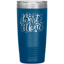 Load image into Gallery viewer, Best Mom Blue Engraved Stainless Steel Tumbler