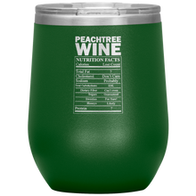 Load image into Gallery viewer, Peachtree Wine Facts Tumbler Green