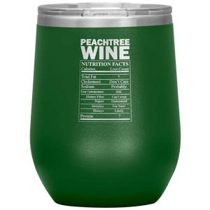 Peachtree Wine Facts Tumbler Green