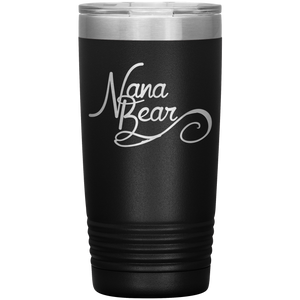 Nana Bear Stainless-Steel Tumbler Black