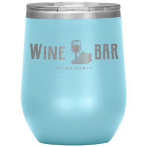 Wine Bar Atlanta Tumbler Light Blue