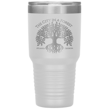 Load image into Gallery viewer, Atlanta City in a Forest Tumbler White