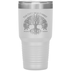 Atlanta City in a Forest Tumbler White