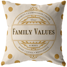 Load image into Gallery viewer, Decorative Accent Family Values Throw Pillow