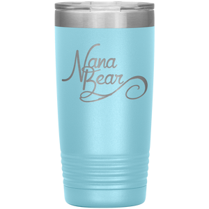Nana Bear Stainless-Steel Tumbler Light Blue