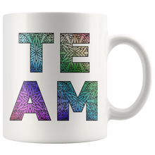 Load image into Gallery viewer, Team Watercolors Diversity Accent Coffee Cup White