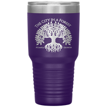 Load image into Gallery viewer, Atlanta City in a Forest Tumbler Purple