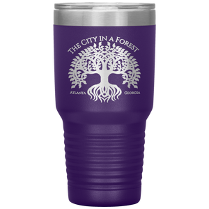 Atlanta City in a Forest Tumbler Purple