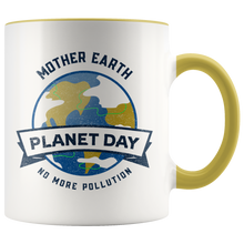 Load image into Gallery viewer, Mother Earth Planet Day Accent Ceramic Coffee Cup Yellow