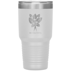 Be-You-Ti-Ful Tree Stainless Steel Tumbler White