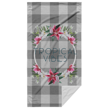 Load image into Gallery viewer, Tropical Vibes Beach Towel with White Background