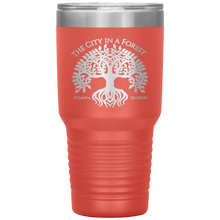 Load image into Gallery viewer, Atlanta City in a Forest Tumbler Coral