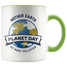 Load image into Gallery viewer, Mother Earth Planet Day Accent Ceramic Coffee Cup Green
