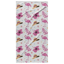 Load image into Gallery viewer, Flamingo Beach Towel